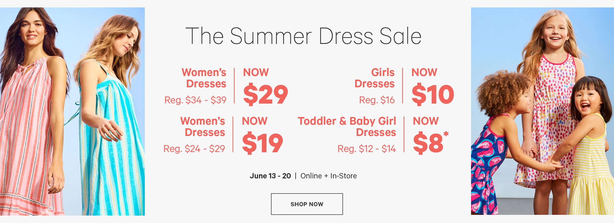 Save on  Dresses for  Women & Girls