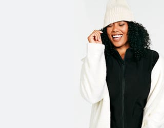 Super Soft Fleece Cozy up to that warm fleece feeling in new styles and colours.