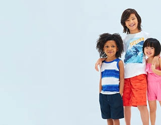 Explore our new collection of children's summertime essentials.