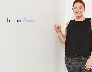 New performance activewear in extended sizes.